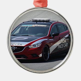 Sports Car Auto Racing Metal Ornament