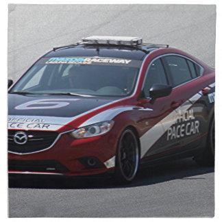 Sports Car Auto Racing Napkin