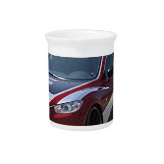 Sports Car Auto Racing Pitcher