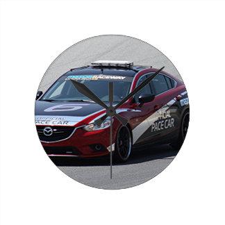 Sports Car Auto Racing Round Clock