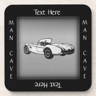 Sports Car Man Cave Coaster Custom Text
