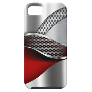 Sports Car Metallic Silver Mesh red Case For The iPhone 5