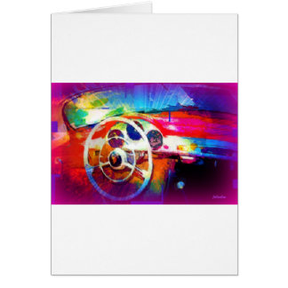Sports Car Steering Wheel Greeting Card
