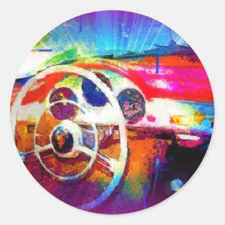 Sports Car Steering Wheel Stickers