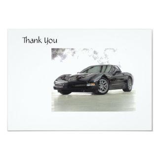 Sports Car Thank you Card