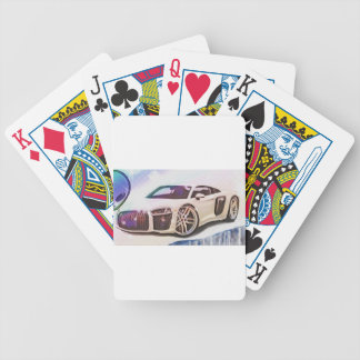 sports cars machine bicycle playing cards