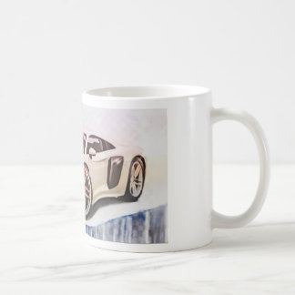 sports cars machine coffee mug