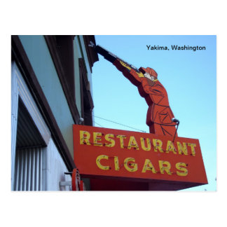 Sports Center Sign- Yakima, Washington Postcard