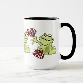 Sports Cheerleading Frog coffee mug