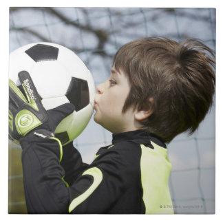 Sports, Children,Football Large Square Tile