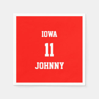 Sports Custom Candy Apple Red Paper Napkin