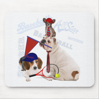 Sports Dogs Ready for Game Day Mouse Pad