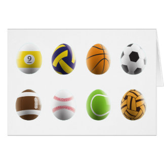 sports easter eggs card