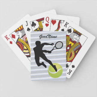 Sports Enthusiast Tennis, personalise with name Playing Cards