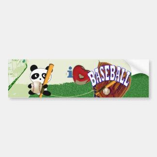 Sports Fan Baseball Car Bumper Sticker