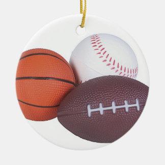 Sports Fan Gift Idea Sports Players Christmas Xmas Round Ceramic Decoration