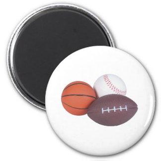 Sports Fan Gifts Basketball Baseball Football Magnet