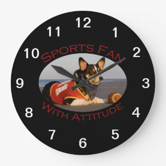 Sports Fan with Attitude Clock