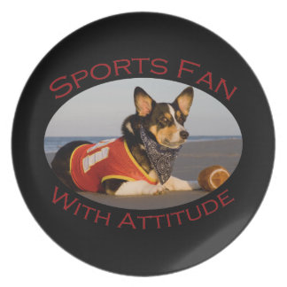 Sports Fan with Attitude Dinner Plate
