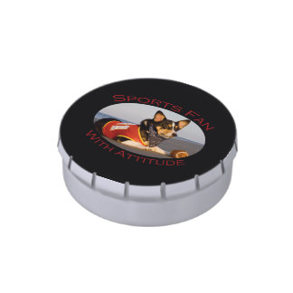 Sports Fan with Attitude Jelly Belly Candy Tins