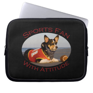 Sports Fan with Attitude Laptop Sleeves