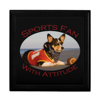 Sports Fan with Attitude Large Square Gift Box