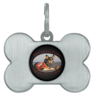 Sports Fan with Attitude Pet Name Tag