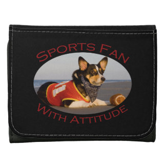 Sports Fan with Attitude Leather Wallet