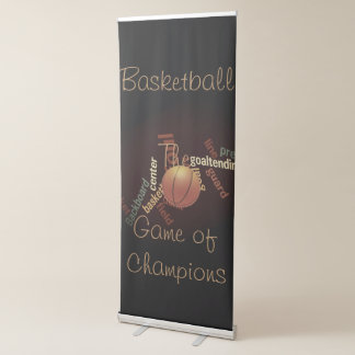 Sports Fanatics Basketball The Game of Champions Retractable Banner