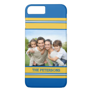Sports Fans Striped Custom Photo iPhone 7 Plus Case