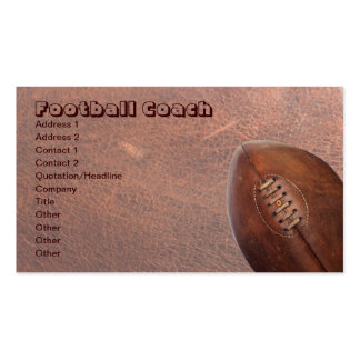 Sports Football Coach, or Team Player Pack Of Standard Business Cards