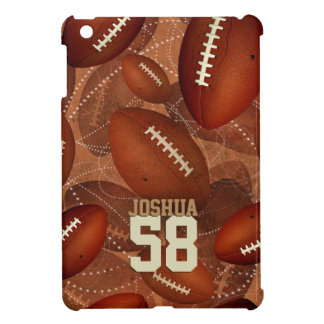 Sports football pattern his name jersey number iPad mini cover