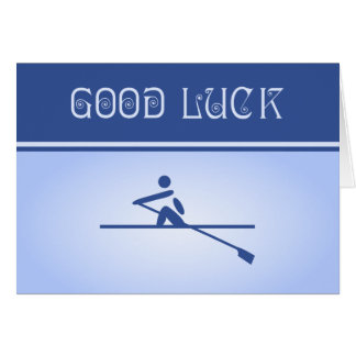 Sports Good luck for rower blue Card