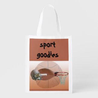 Sports goodies reusable bag market totes
