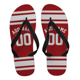 Sports Jersey with Your Name and Number Flip-Flops