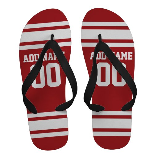 Sports Jersey with Your Name and Number Sandals