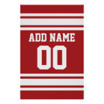 Sports Jersey with Your Name and Number Poster