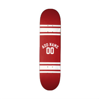 Sports Jersey with Your Name and Number Skateboard Decks