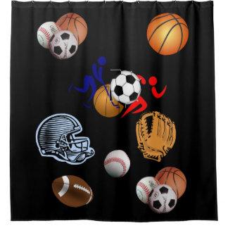 Sports Kids sports shower curtain