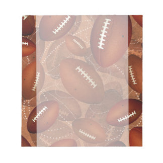 sports men's football pattern notepad