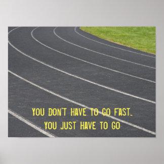 Sports Motivational Running Poster