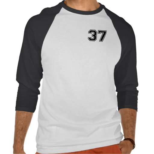 Sports number 37 t shirt