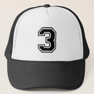 sports number 3 trucker hat
