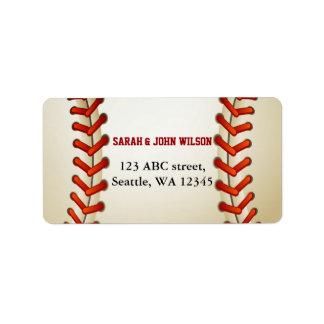 Sports Party Baseball theme address label