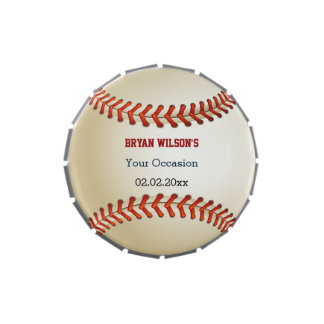 Sports Party Baseball theme Personalize candy tins Candy Tin