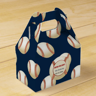 Sports Party Baseball theme Personalized favor box Favor Boxes