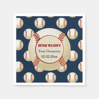 Sports Party Baseball theme Personalized napkins Disposable Napkins