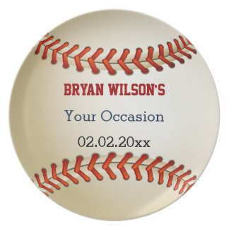 Sports Party Baseball theme Personalized Plate Dinner Plate