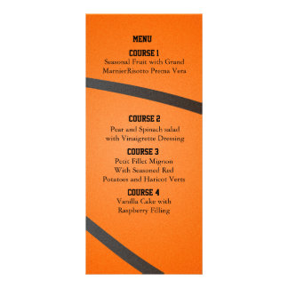Sports Party Basketball theme Menu cards