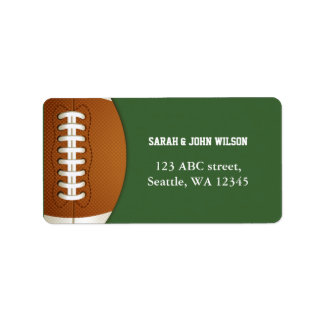 Sports Party Football theme address label